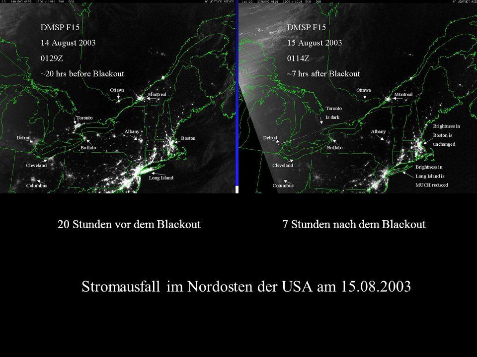 Stromausfall im Nordosten der USA am 15.08.2003