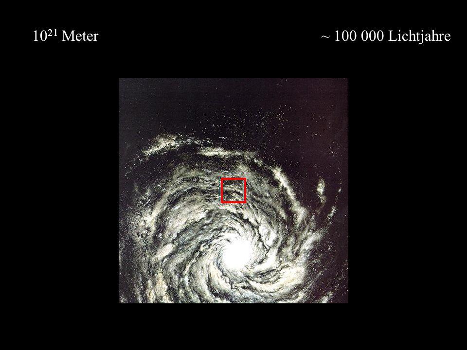1021 Meter ~ 100 000 Lichtjahre