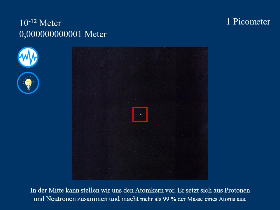 1 Picometer 10-12 Meter 0,000000000001 Meter