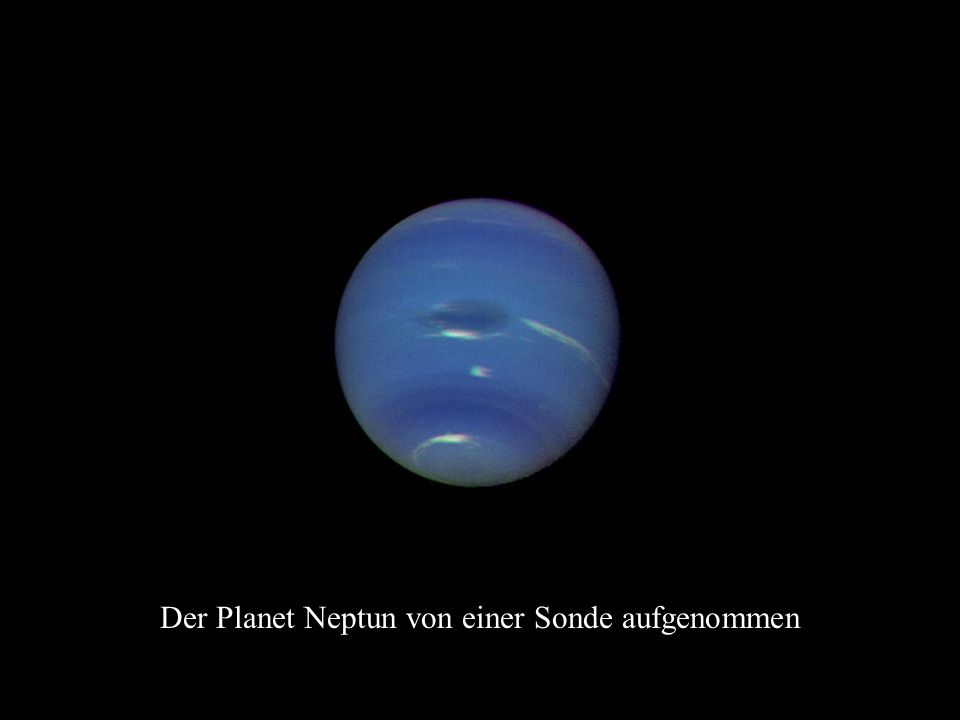 Der Planet Neptun von einer Sonde aufgenommen