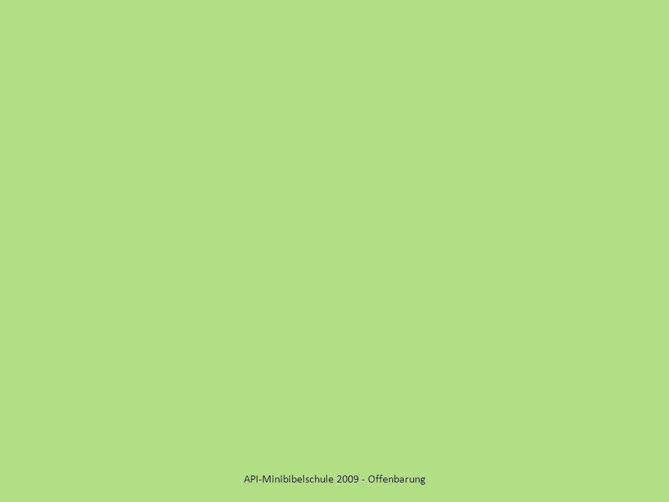 API-Minibibelschule 2009 - Offenbarung