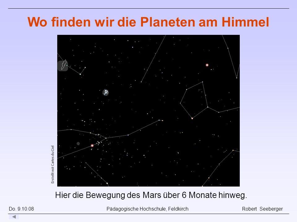 Wo finden wir die Planeten am Himmel