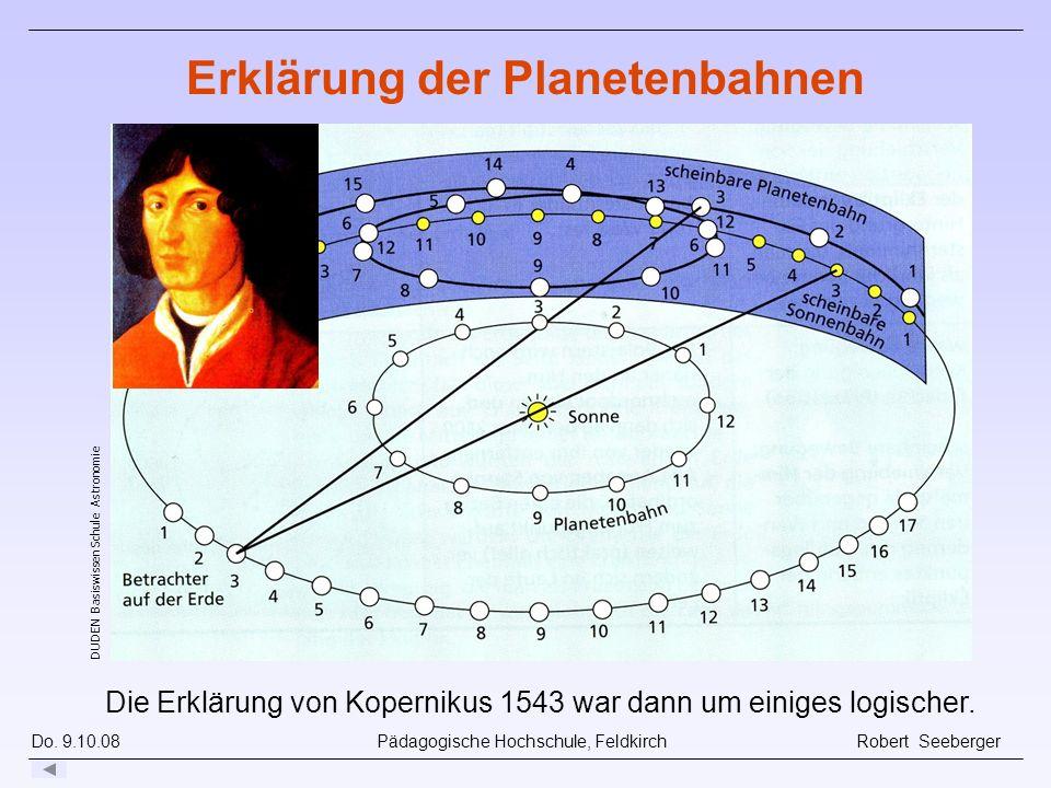 Erklärung der Planetenbahnen