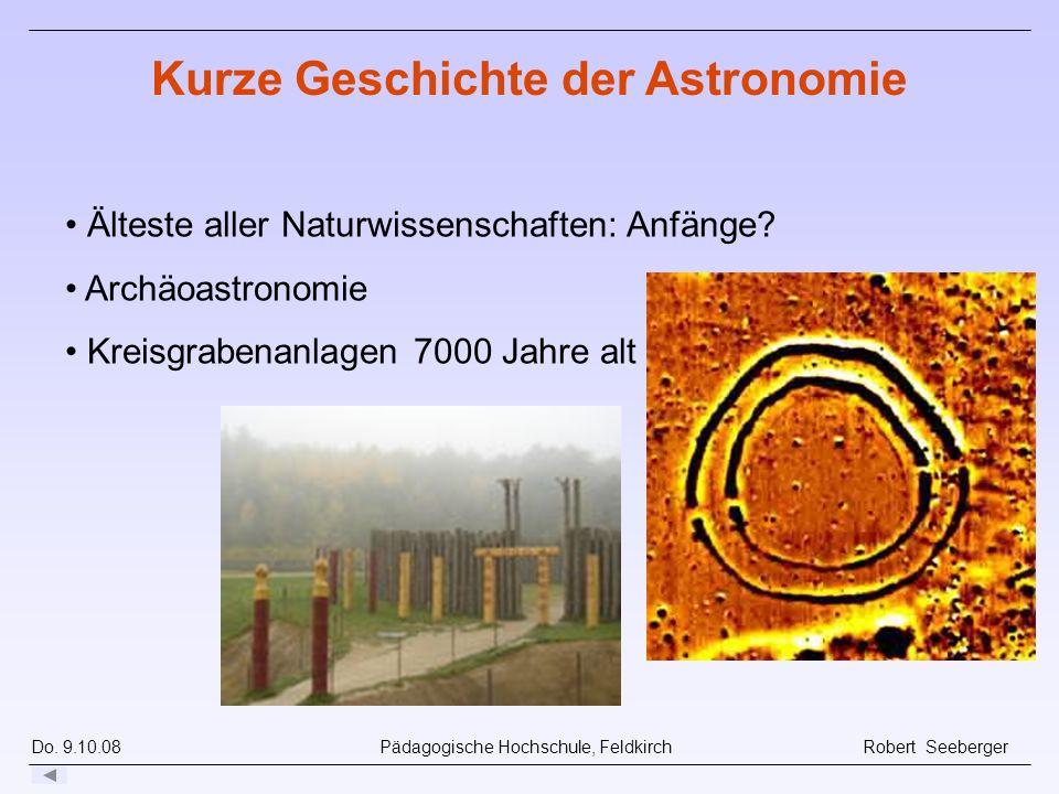 Kurze Geschichte der Astronomie