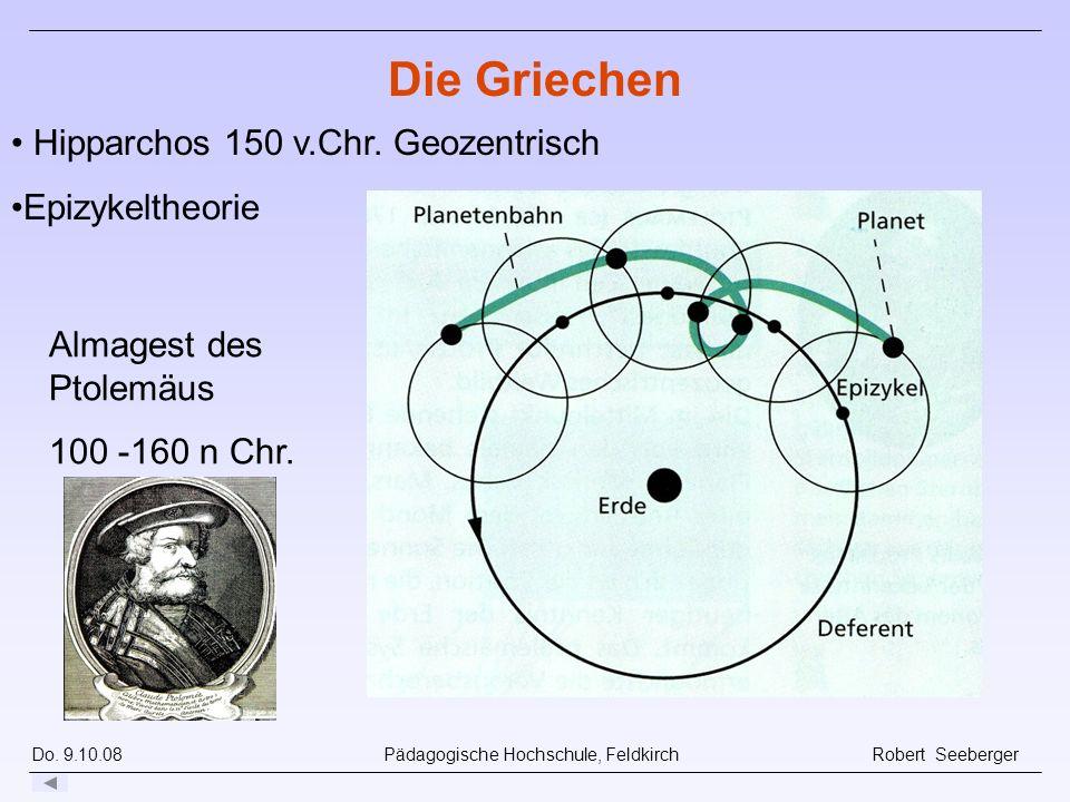 Die Griechen Hipparchos 150 v.Chr. Geozentrisch Epizykeltheorie
