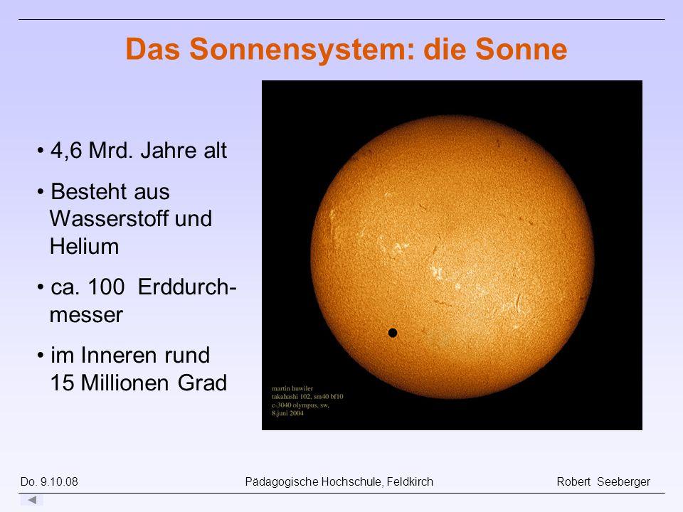 Das Sonnensystem: die Sonne