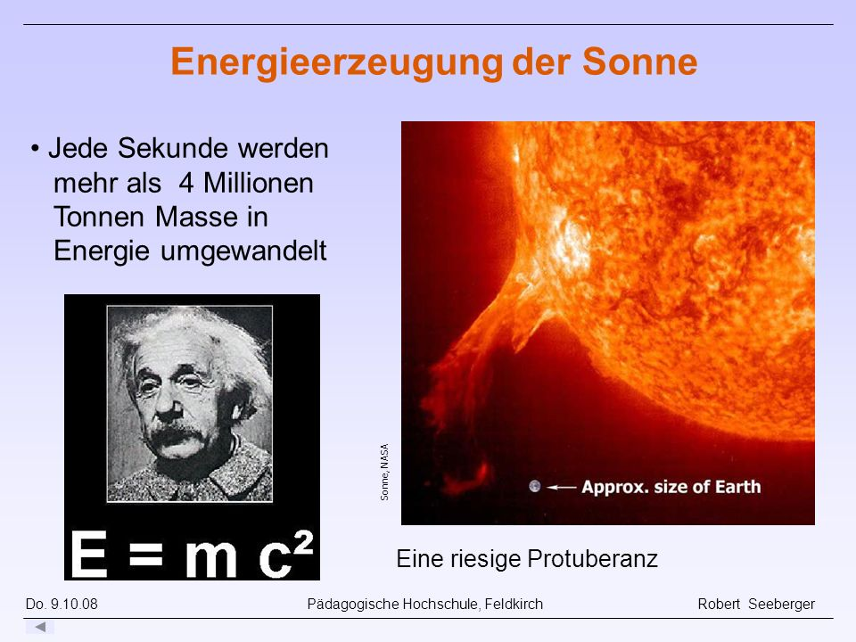Energieerzeugung der Sonne