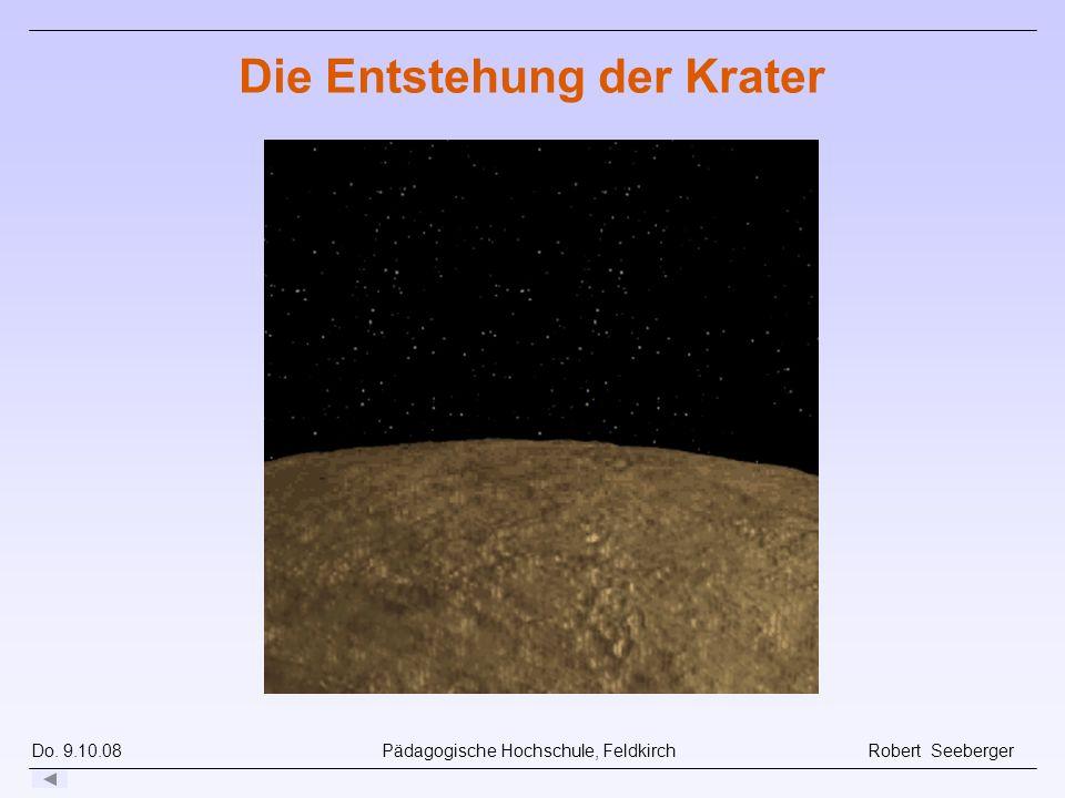 Die Entstehung der Krater