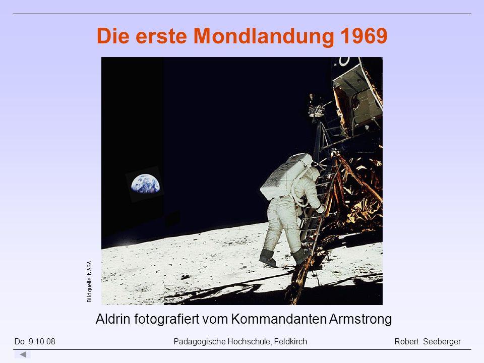 Aldrin fotografiert vom Kommandanten Armstrong