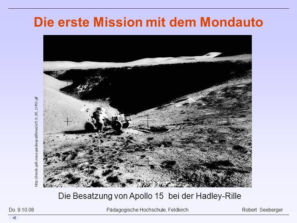 Die erste Mission mit dem Mondauto