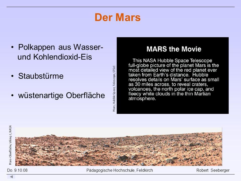 Der Mars Polkappen aus Wasser- und Kohlendioxid-Eis Staubstürme
