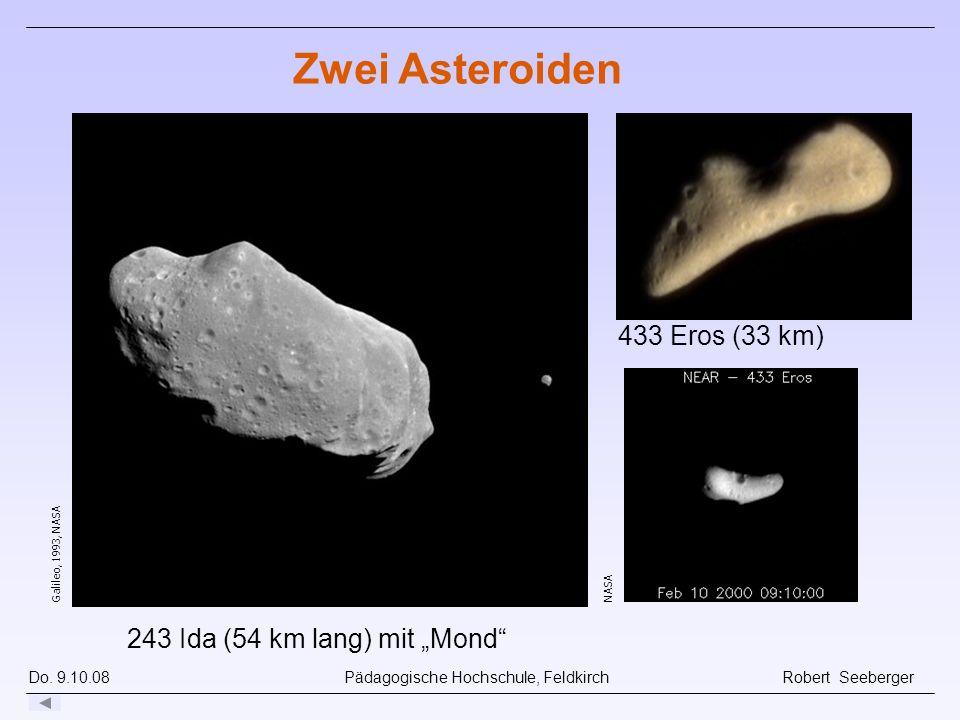 """Zwei Asteroiden 433 Eros (33 km) 243 Ida (54 km lang) mit """"Mond"""