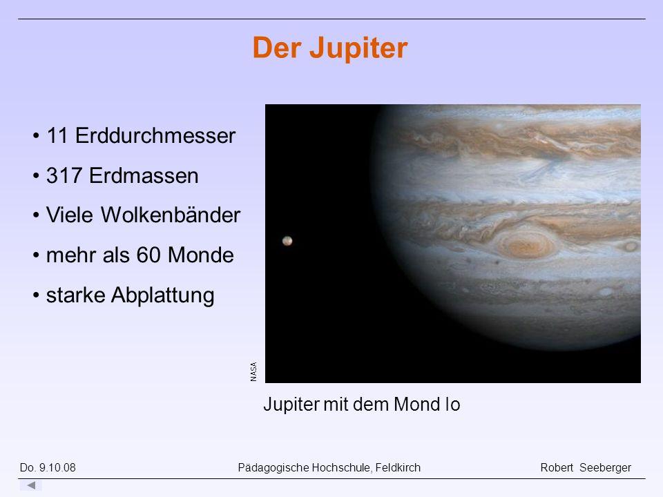 Der Jupiter 11 Erddurchmesser 317 Erdmassen Viele Wolkenbänder
