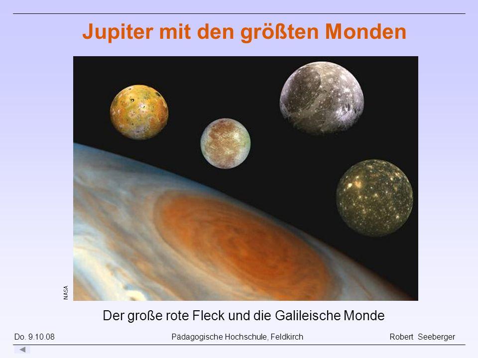 Jupiter mit den größten Monden