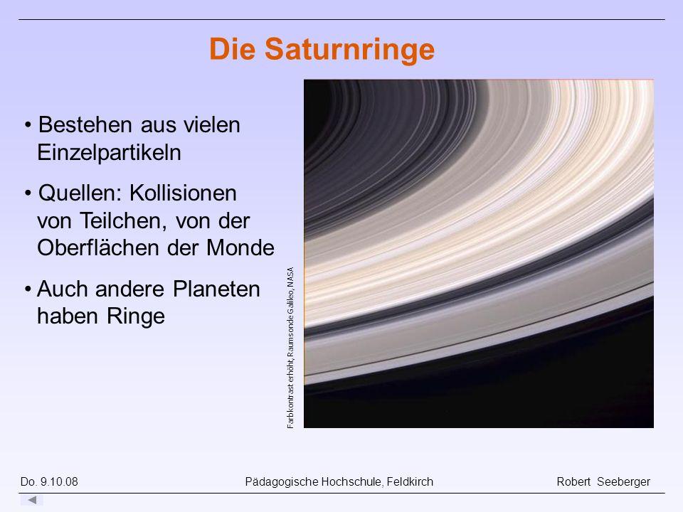 Die Saturnringe Bestehen aus vielen Einzelpartikeln