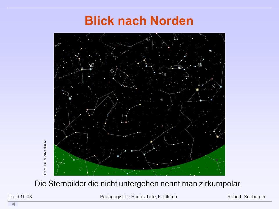 Blick nach Norden Animation dazu über 24 Stunden. Erstellt mit Cartes du Ciel.