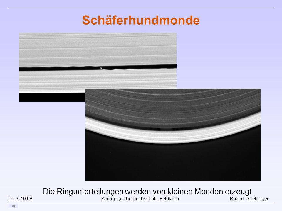 Schäferhundmonde Ringe bestehen aus vielen kleinen Partikeln (Millimeter bis Hausgröße). Mehr als tausend Einzelringe.