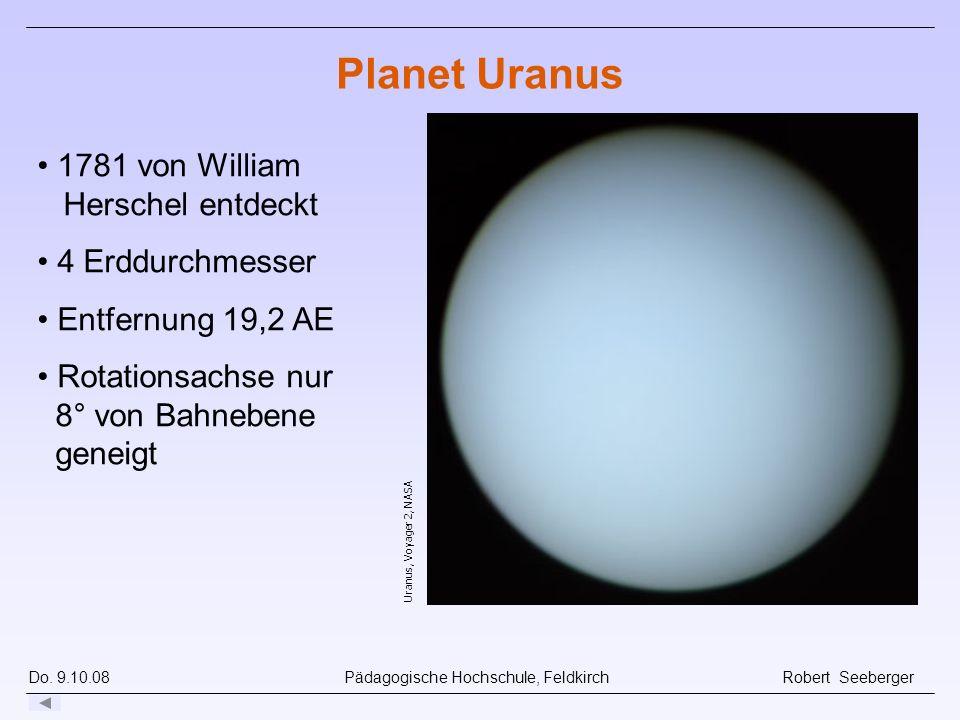 Planet Uranus 1781 von William Herschel entdeckt 4 Erddurchmesser