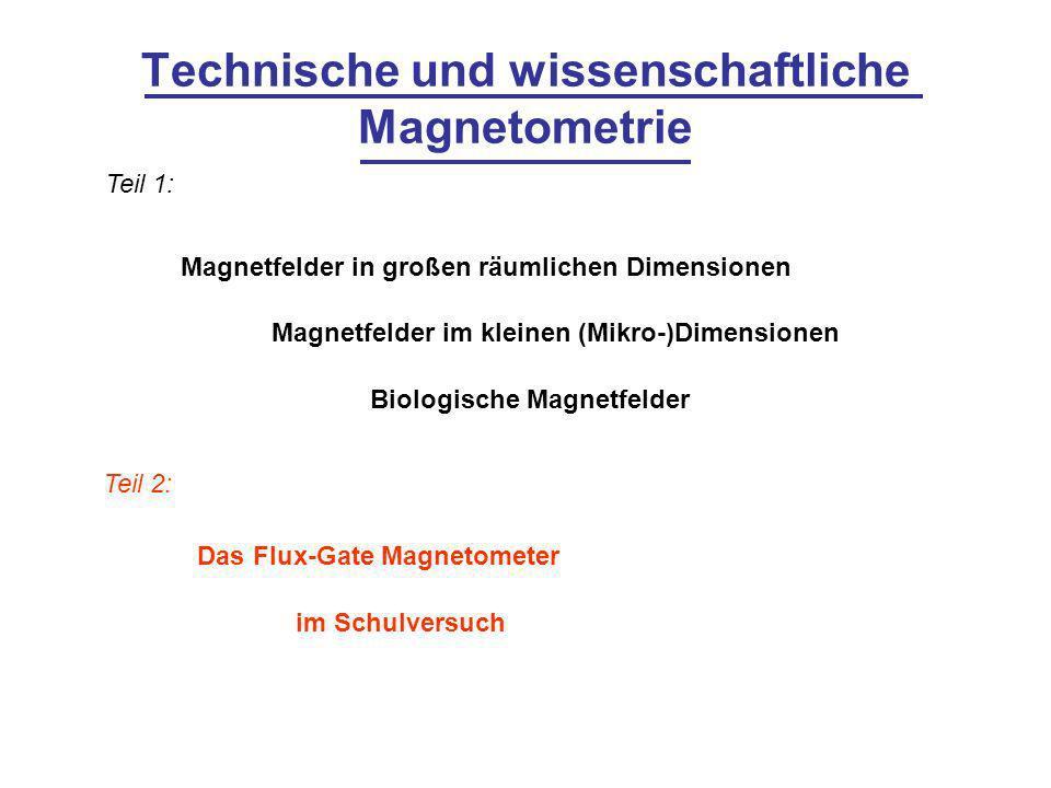 Technische und wissenschaftliche Magnetometrie