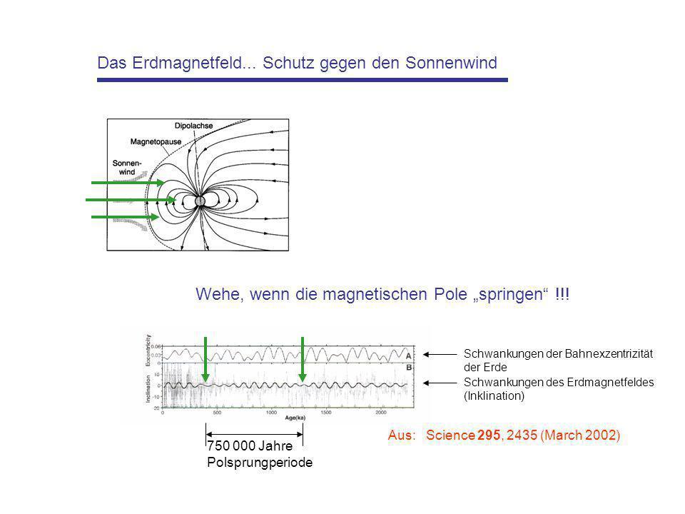 Das Erdmagnetfeld... Schutz gegen den Sonnenwind
