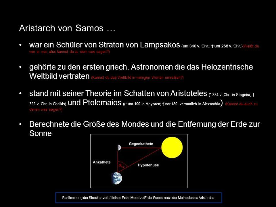 Aristarch von Samos …