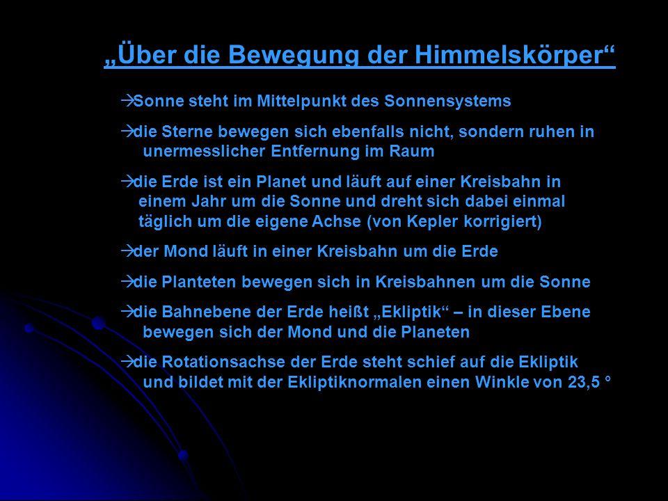 """Über die Bewegung der Himmelskörper"
