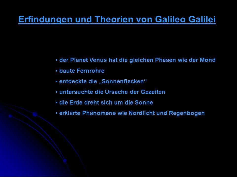 Erfindungen und Theorien von Galileo Galilei