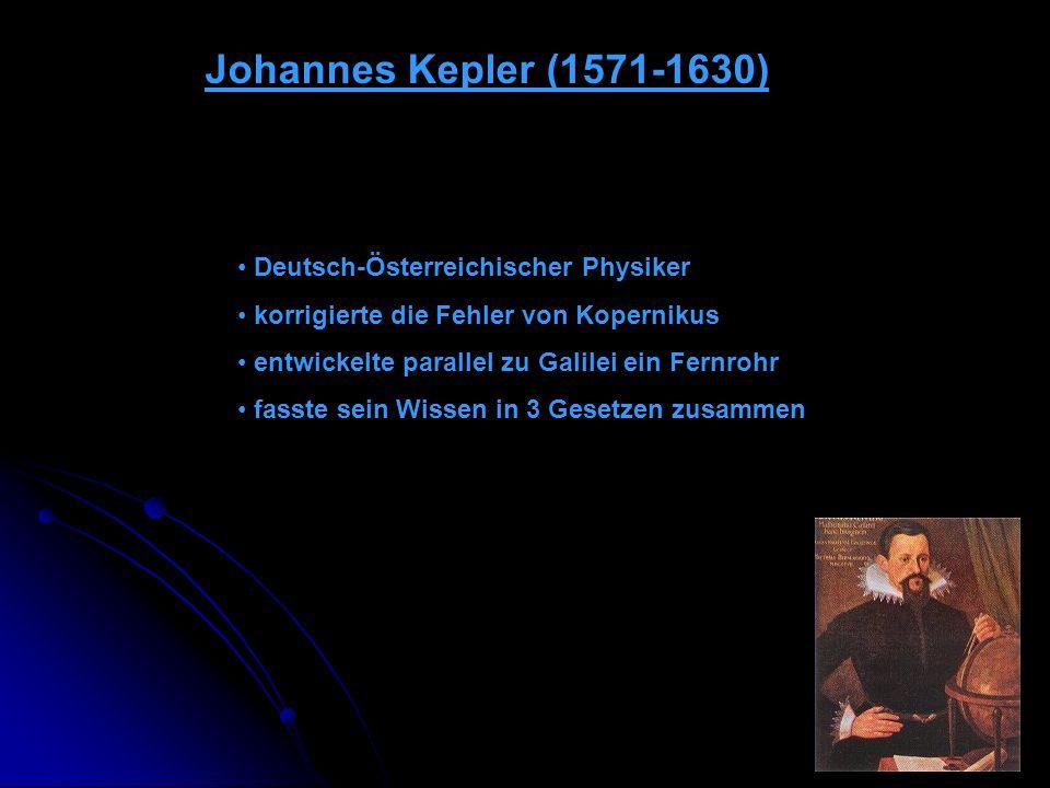 Johannes Kepler (1571-1630) Deutsch-Österreichischer Physiker