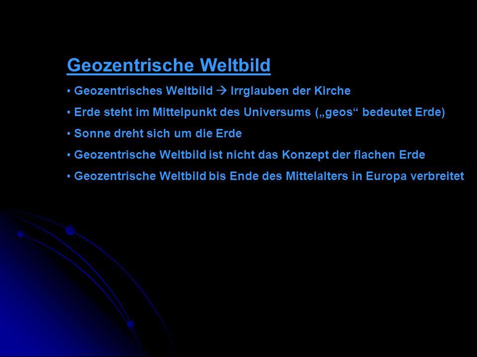 Geozentrische Weltbild