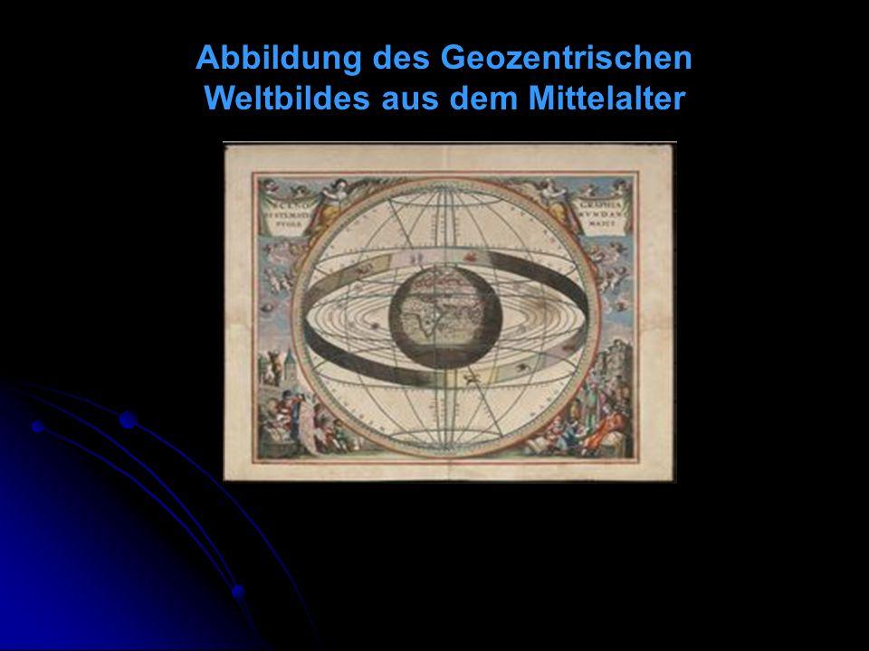 Abbildung des Geozentrischen Weltbildes aus dem Mittelalter