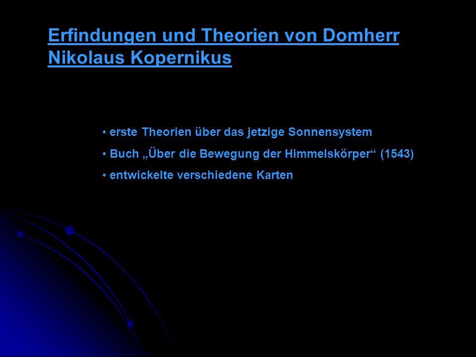 Erfindungen und Theorien von Domherr Nikolaus Kopernikus