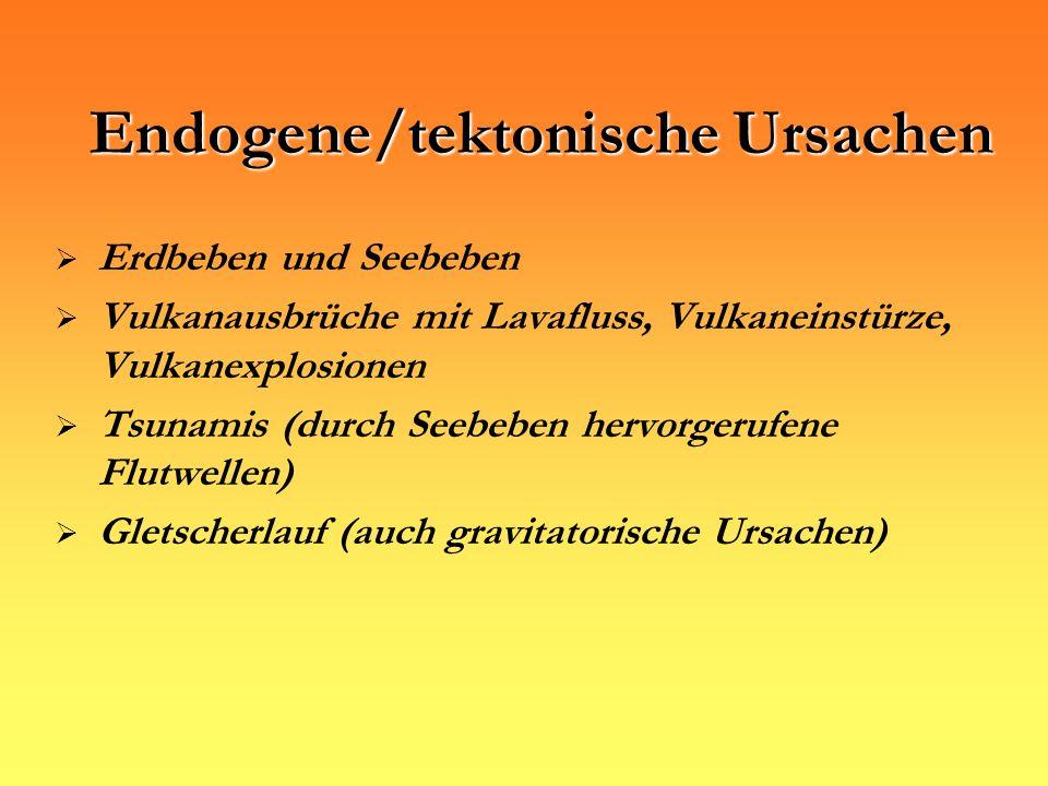 Endogene/tektonische Ursachen