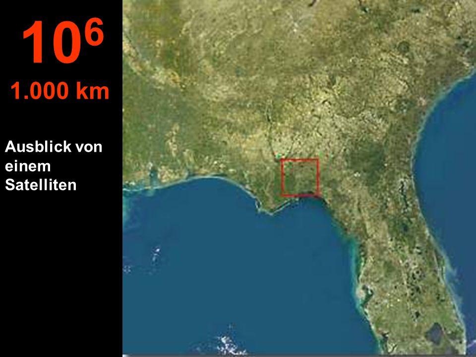 106 1.000 km Ausblick von einem Satelliten