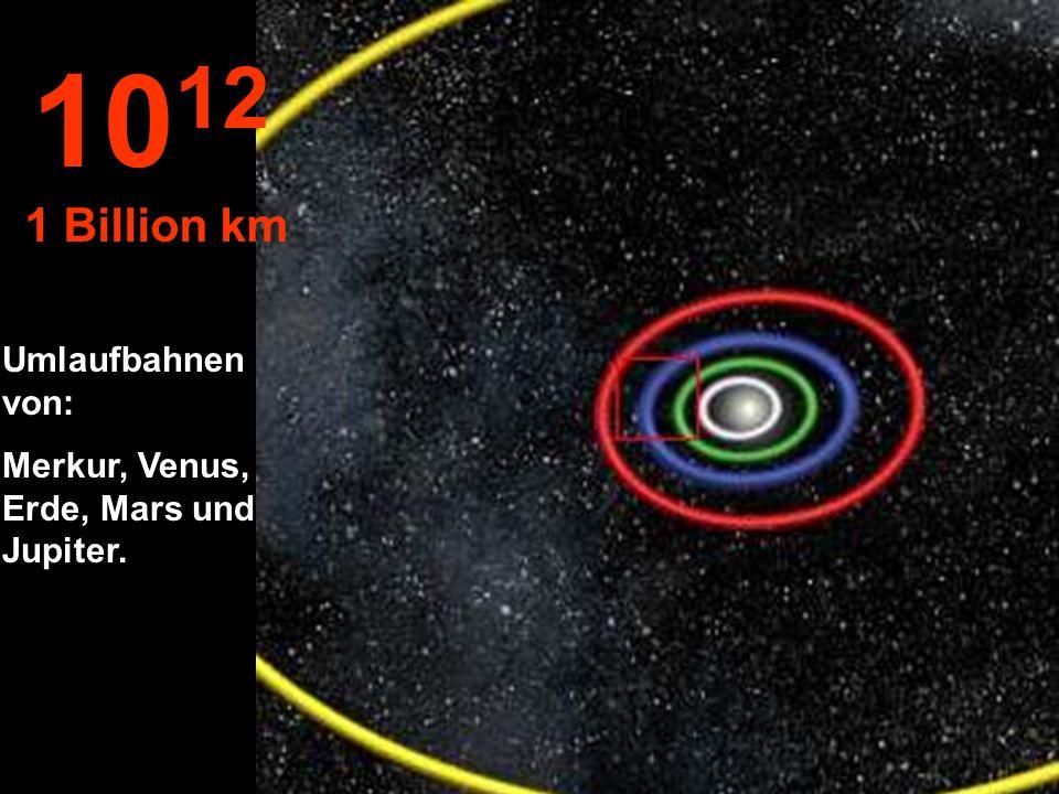 1012 1 Billion km Umlaufbahnen von: