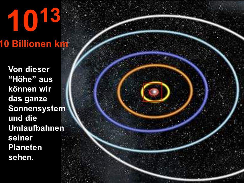 1013 10 Billionen km.