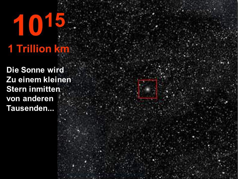 1015 1 Trillion km Die Sonne wird Zu einem kleinen Stern inmitten von anderen Tausenden...
