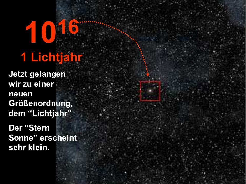 1016 1 Lichtjahr.