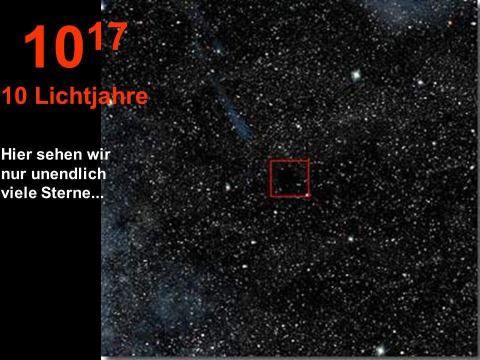 1017 10 Lichtjahre Hier sehen wir nur unendlich viele Sterne...