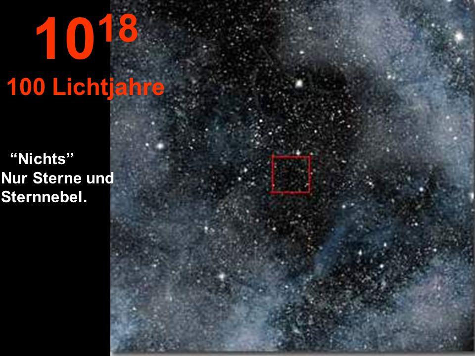 1018 100 Lichtjahre Nichts Nur Sterne und Sternnebel.