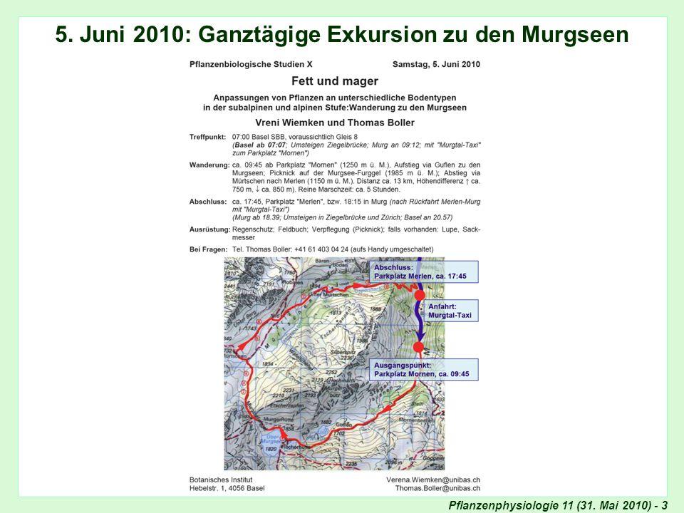 5. Juni 2010: Ganztägige Exkursion zu den Murgseen