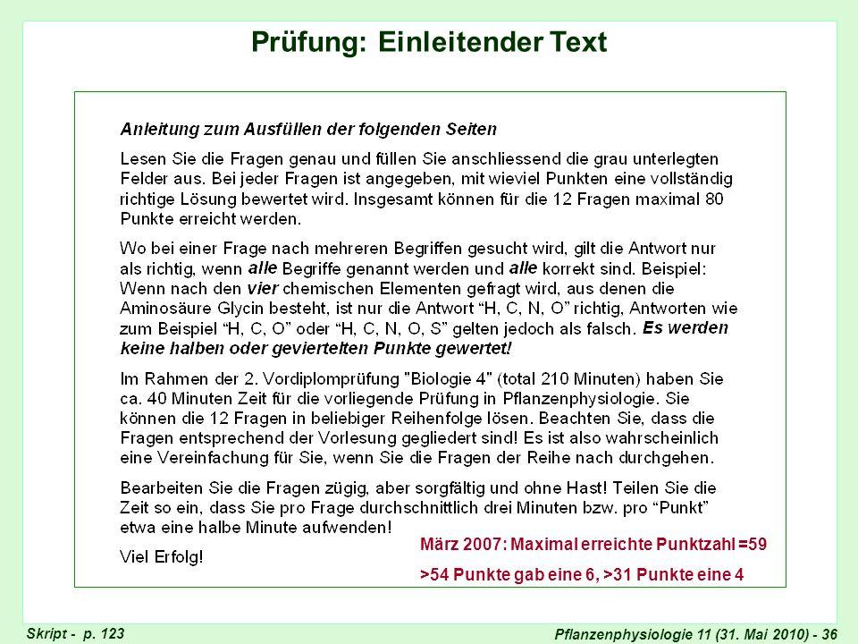 Prüfung: Einleitender Text