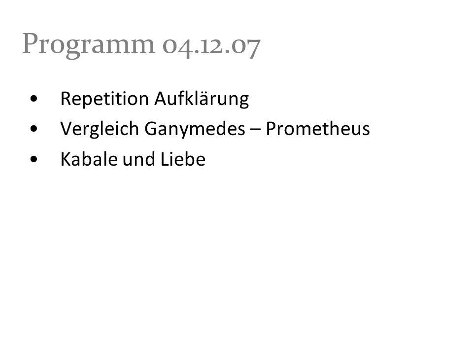 Programm 04.12.07 Repetition Aufklärung