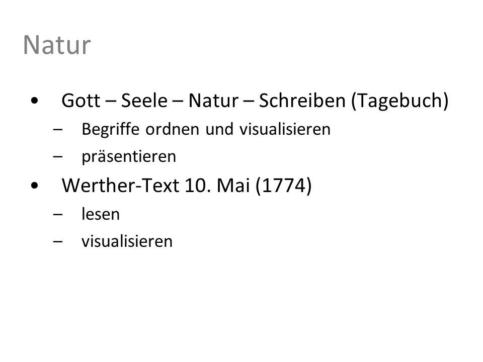 Natur Gott – Seele – Natur – Schreiben (Tagebuch)