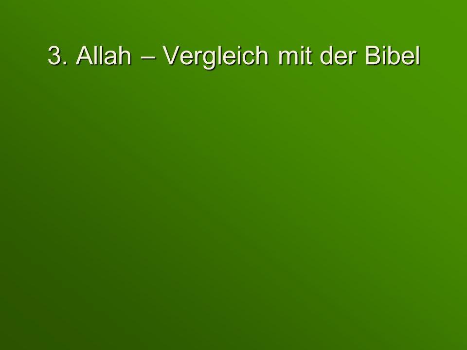 3. Allah – Vergleich mit der Bibel