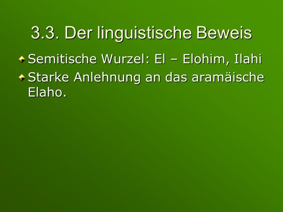 3.3. Der linguistische Beweis