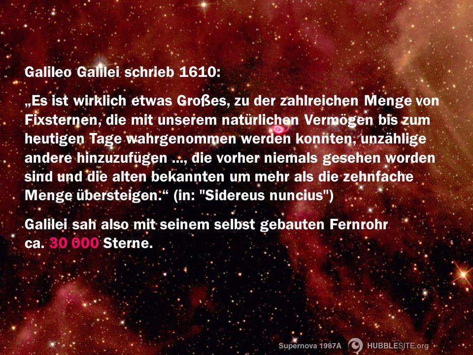 Galileo Galilei schrieb 1610: