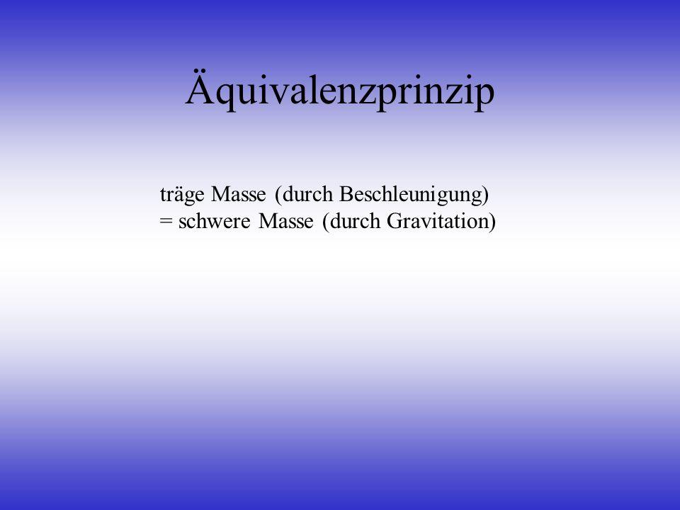 Äquivalenzprinzip träge Masse (durch Beschleunigung)