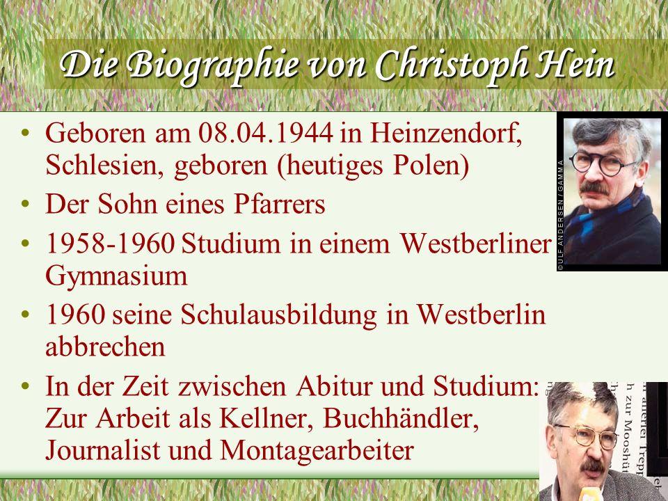 Die Biographie von Christoph Hein