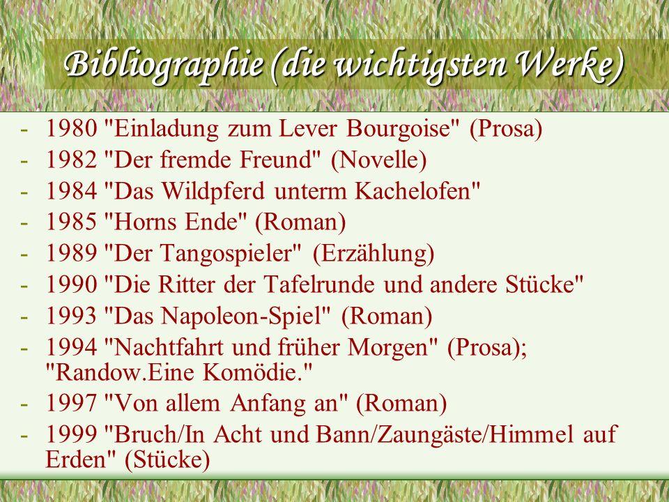 Bibliographie (die wichtigsten Werke)