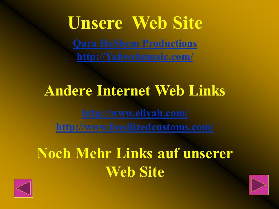 Unsere Web Site Andere Internet Web Links